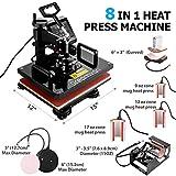 "8 in 1 Heat Press Machine, 12X15""Combo Digital"