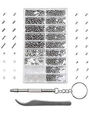 MMOBIEL 1000 Stuks Roestvrij Staal Micro Schroevenset Bril Reparatie Set Incl. Tools