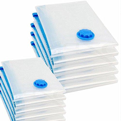 logei® 20 tlg Set Vakuumbeutel Aufbewahrungsbeutel Kleiderbeutel Vakuum-Platzsparer für Betten und Kleidung, 40x60 / 60x80 / 70x120 cm