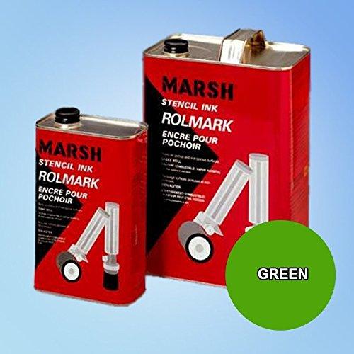 - Marsh Rolmark Green Ink - Quart