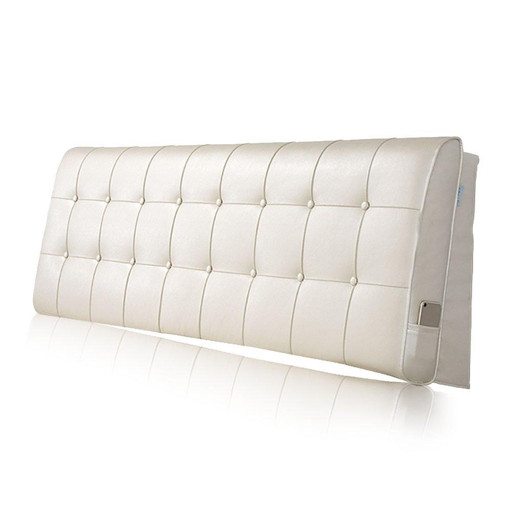 LIANGLIANG クッションベッドの背もたれ ダブルサイズベッドルームあり、5サイズ13色 (色 : クリーミーホワイト, サイズ さいず : Length 200cm) B07FQPMH5F Length 200cm|クリーミーホワイト クリーミーホワイト Length 200cm
