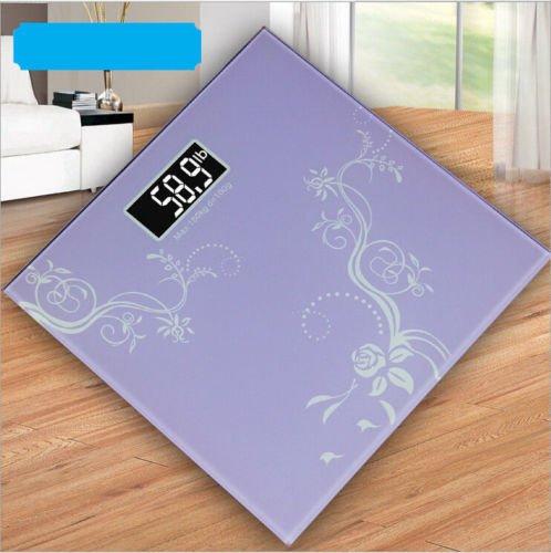 Digital de cristal LCD electrónica peso corporal baño salud escala 180 kg/400lb Alb: Amazon.es: Hogar