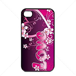 Valentine's Day Gift Sweet Heart Love Apple iPhone 4 / 4s TPU Soft Black or White case (Black)