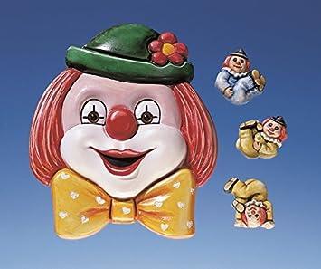 Relieve formas/moldes de fundición sin colada/yeso figuras payasos enano payaso cabeza 545: Amazon.es: Juguetes y juegos