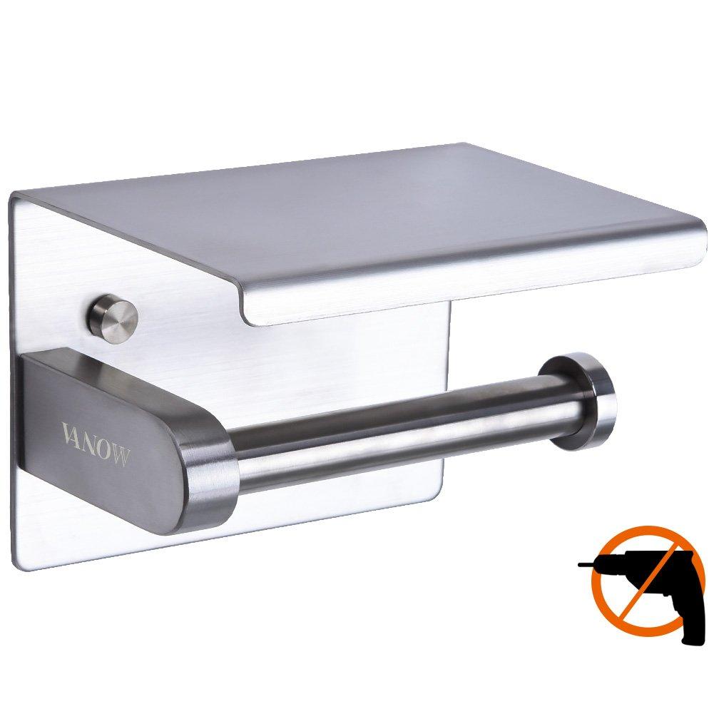 Porta Carta Igienica Senza Foratura, Portarotolo Adesivo 3M Autoadesivo, Installazioni Da Bagno, Acciaio Inox 304 Hotsan