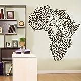 African Wild Animal Leopard Cheetah Wall Decal Vinyl Decor Sticker Wall Art