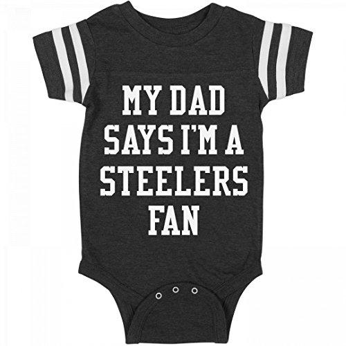 Funny My Dad Says I'm A Steelers Fan: Infant Rabbit Skins Football Bodysuit