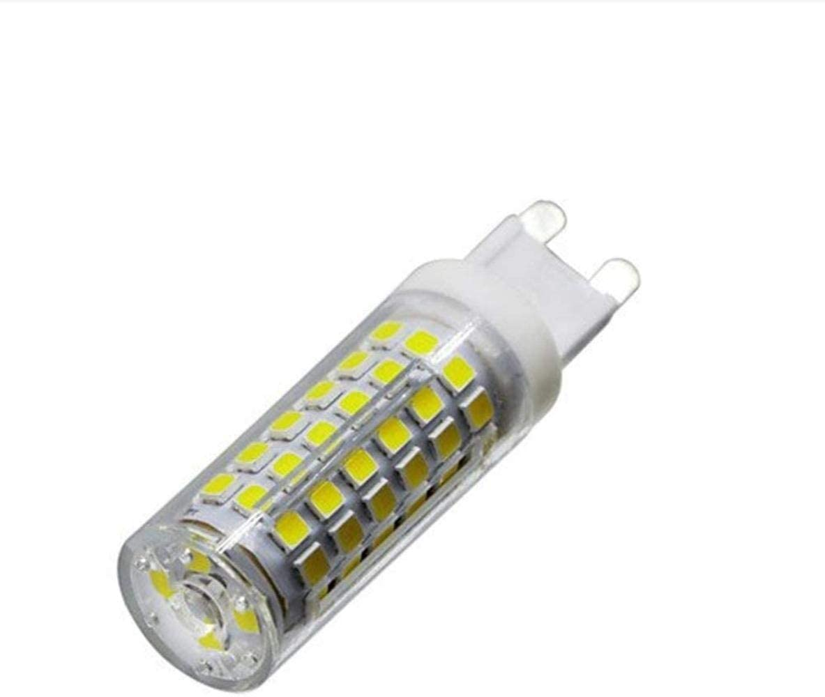 Color : Warm White YYF Convenience LED Light Source G9 7W LED Bulb Dimmable Led Lamp Bead Ceramic Plug-in Strobe-Free Foot Power Highlight Neutral 7W Bulb Reliable