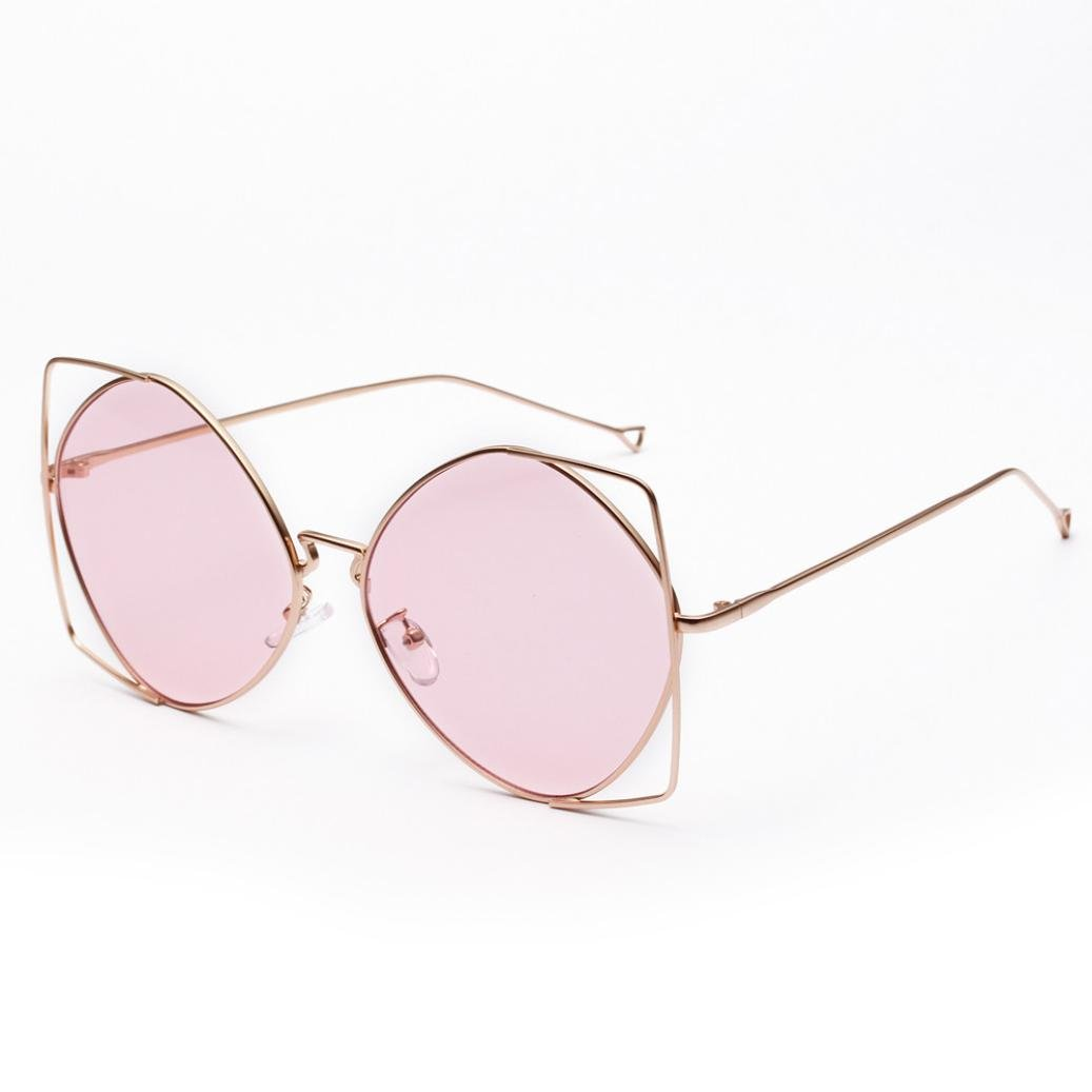 6f596dcda74f Amazon.com: Huphoon Men Women Sunglasses New Irregular Metal Frame Retro  Eyeglasses: Health & Personal Care