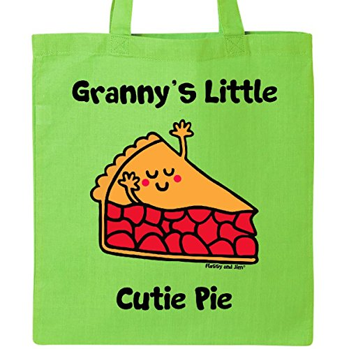 Inktastic - Granny's little Cutie Pie Tote Bag Lime Green - Flossy And Jim