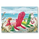 Tropical Beach Christmas Vacation Boxed Holiday Greeting Cards