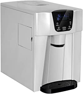 Ice Maker Machine Compact Counter Top,2 in 1,LED Display,Dispenser Machine(3L,Makes 15kgs per 24 hrs, 2 Types Ice)