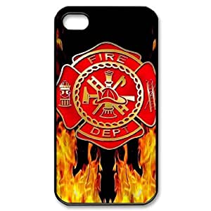 Personalized Firefighter Apple Iphone 4S/4 Case Cover Fire Department logo Fireman by mcsharks