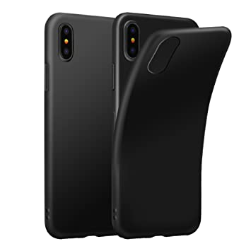 Eouine Funda iPhone XS, Funda iPhone X, Ultrafina Carcasa de Silicona Suave Gel TPU [Antigolpes] Case Cover Bumper Fundas para Movil Apple iPhone XS/X ...