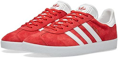 Adidas Mens Gazelle Power Red/White Suede