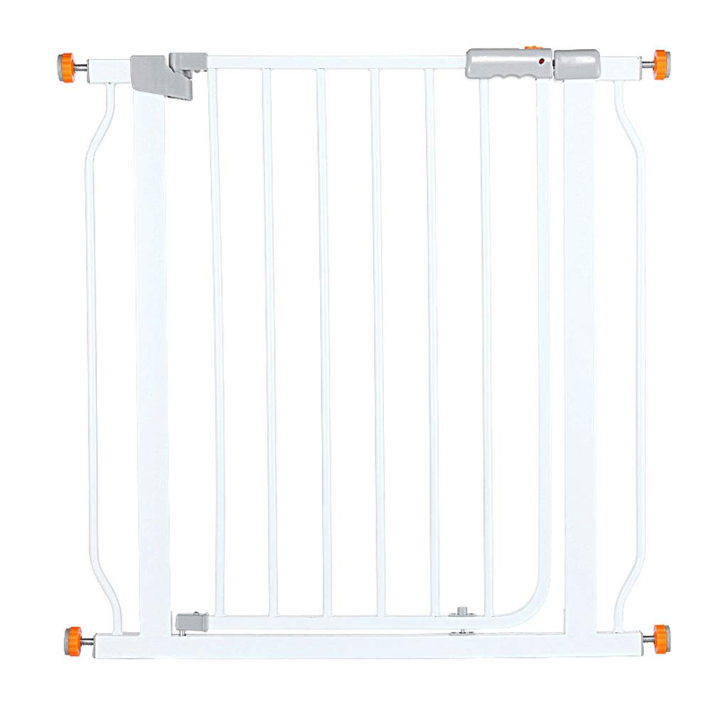 DIMPLEYA Ladder Guardrail, Child Safety Door Fence Free Punching Household Protective Railings Pet Dog Isolation Gate,White,(68~75) 78cm