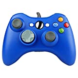 Wired Gaming Gamepad Controller Zoewal FA04 USB Gamepad for Xbox 360 Game and PC-Blue (Third-party manufacturing)