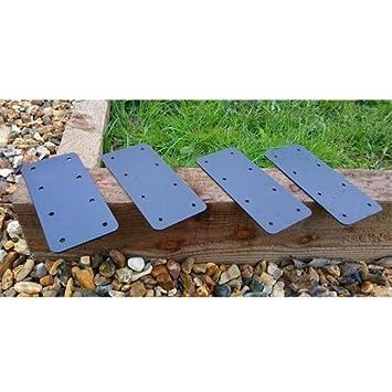 Galvanised Steel 45° Angle Garden Raised Bed Wood Timber Railway Sleeper Bracket