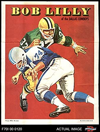 1970 Topps Football Posters   19 Bob Lilly Dallas Cowboys (Football Card)  Dean s Cards 94f852f74