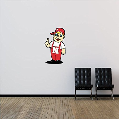 Nebraska Cornhuskers NCAA USA Man Logo College Sport Art Wall Decor Sticker 15'' x 25''