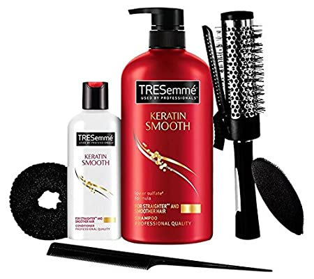 TRESemme Free Hair Styling Kit Worth Rs.500 with Keratin Smooth Shampoo, 580ml and Conditioner, 85ml