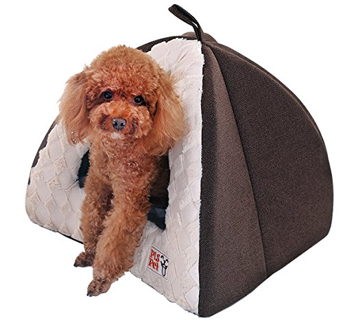 - PLS Birdsong Pet Tent Velvet Cuddle Bed, Medium, Soft Dog House, Dog Cave, Cat Cave, Dog Bed, Cat Bed, Dog Beds for Small Dogs