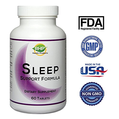 Sleep Aid Sleep Pills. With Melatonin, Tart Cherry, GABA, Passion Flower, Advanced Sleeping Aid Promotes Relaxation & Stress Relief from Restlessness. Wake Up Refreshed, 2350mg. 60 Tablets