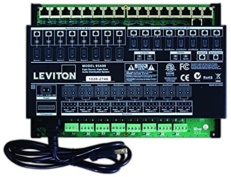 Amazon.com: Leviton 95 A01 – 1 Hi-Fi 8-ZONE, 8-source ...