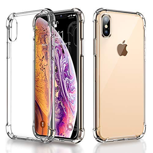RKINC for Apple iPhone XR Case, Reinforced Corners Soft Cushion TPU Bumper + Hybrid Crystal Clear Rugged Hard Transparent Cover for iPhone XR