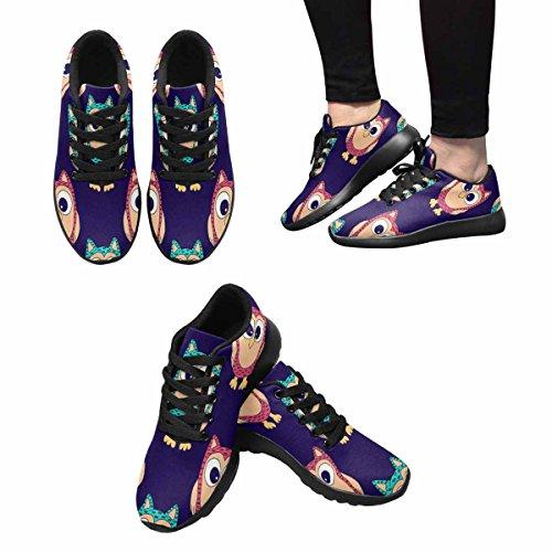 Scarpe Da Corsa Trail Running Da Donna Running Jogging Leggero Sportivo Da Passeggio Sneaker Sportivi Gufi Colorati Multi 1