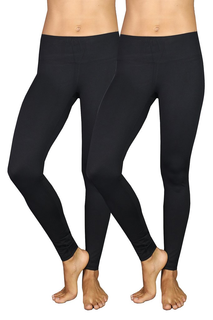 90 Degree By Reflex Power Flex Yoga Pants - Black 2 Pack XS
