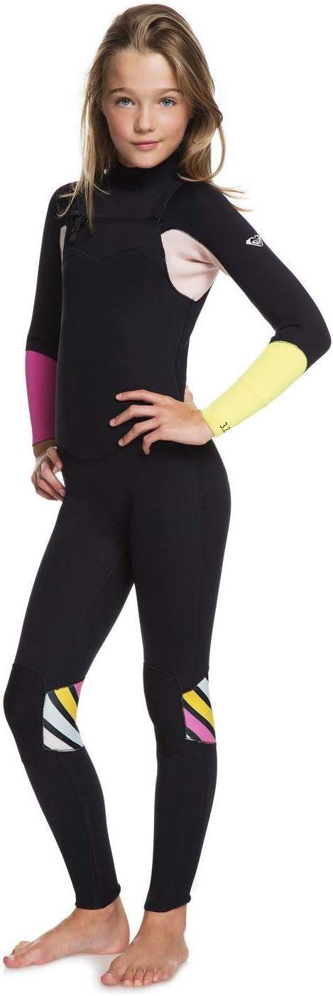 Roxy Girls 3//2mm Pop Surf Chest Zip Neoprenanzug Schwarz Thermisch Warme W/ärmeschicht Lagen Leicht Stretch Leicht