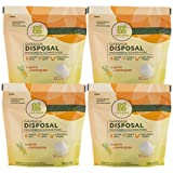 Garbage Disposals Best Grab Green Natural Garbage Disposal Cleaner and Freshener, Tangerine with Lemongrass, 12 Pods (Pack of 4)