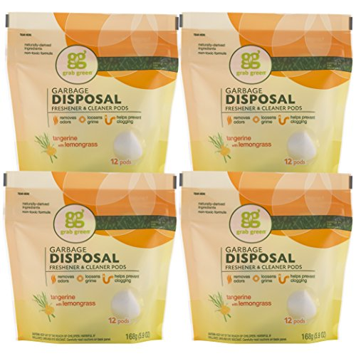 grab-green-natural-garbage-disposal-freshener-and-cleaner-tangerine-with-lemongrass-12-pods-pack-of-