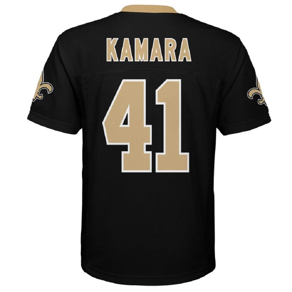 46172dd9f Amazon.com   Outerstuff Alvin Kamara New Orleans Saints NFL Youth 8-20  Black Home Mid-Tier Jersey (Youth Small 8)   Sports   Outdoors