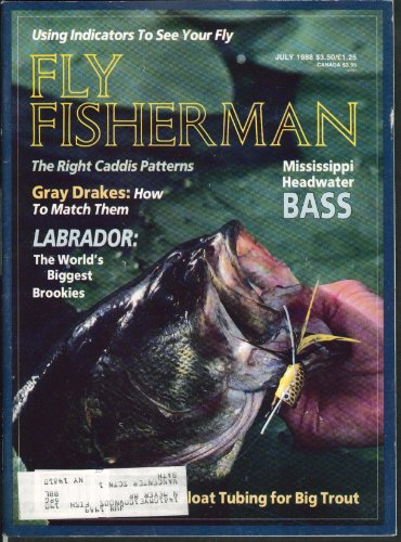 FLY FISHERMAN Mississippi Headwater Bass Gray Drakes Labrador 7 1988