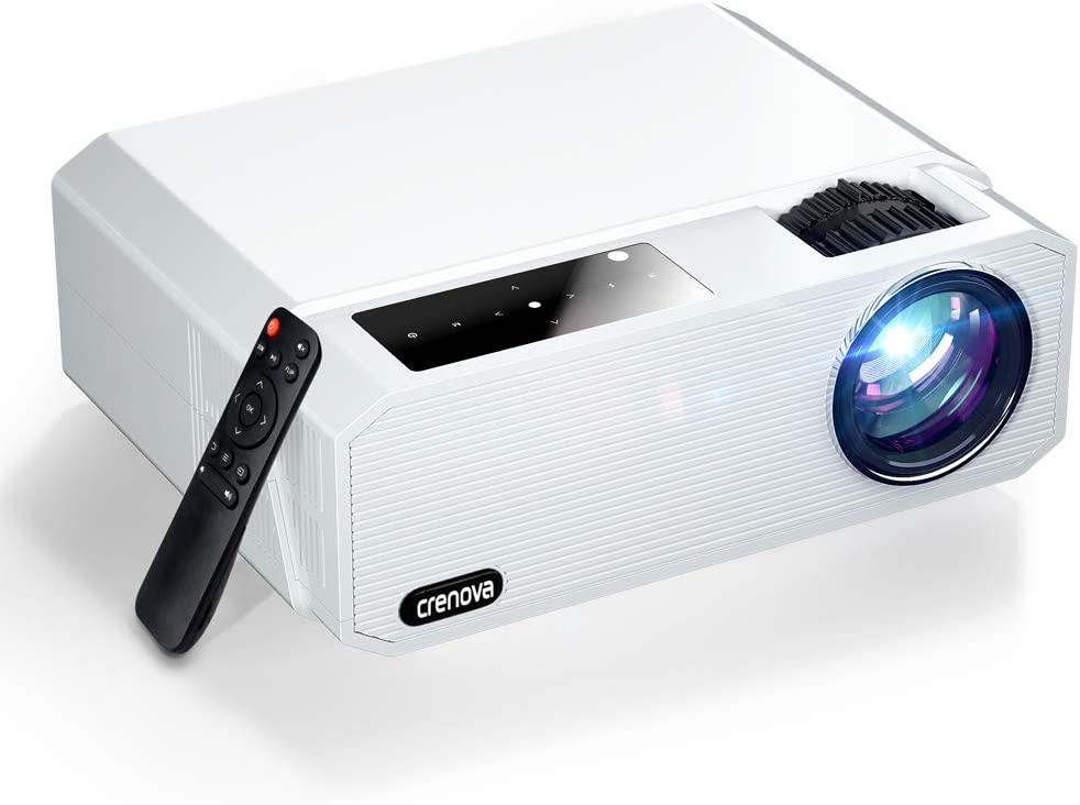 """Native 1080P Projector, Crenova 6800 Lux Home Movie Projector, Full HD LED Video Projector with Dolby, Outdoor iPhone Projector with 200"""" Display&50% Zoom for Phone/Laptop/Xbox/TV Sticks"""