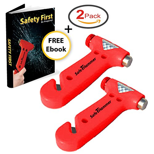 Car-Safety-Hammer-Window-Breaker-Seatbelt-Cutter-Pack-of-2-A-Lifesaving-Glass-Breaker-for-Your-Auto-Emergency-Kit
