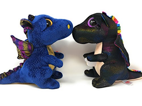 Ty Beanie Boos Set Of 2  Saffire The Dragon And Anora The Dragon  Medium