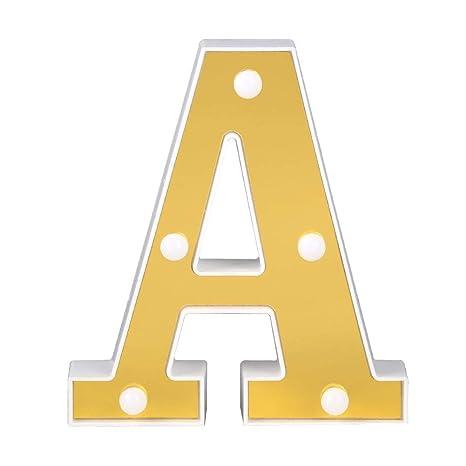 Lettres Décoratives   Alphabet LED Décoratif Lights, Hillrong 3D LED Lettre  Suspension Murale Lampe Lamp