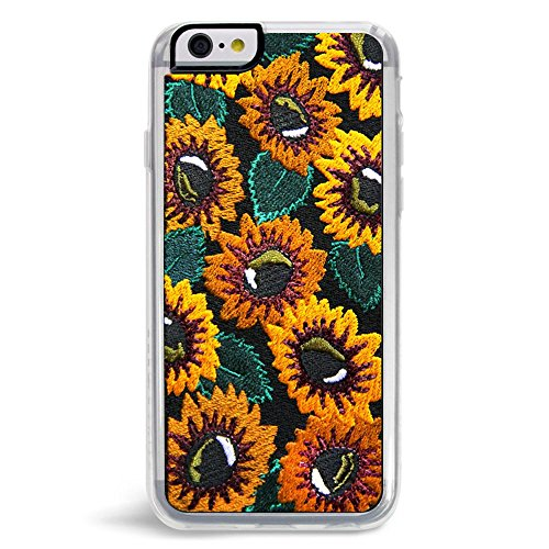 Embroidered Phone Case (Zero Gravity Apple iPhone 6/6s Sunny Phone Case - Embroidered Sunflowers Design - 360° Protection, Drop Test Approved)