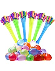 Cypin Water Balloons, 6 Bunches 222 Balloons Multicolored Self-Tie Quick Refill Kits for Kids & Adults Summer Splash Fun Water Fight Swimming Pool Party