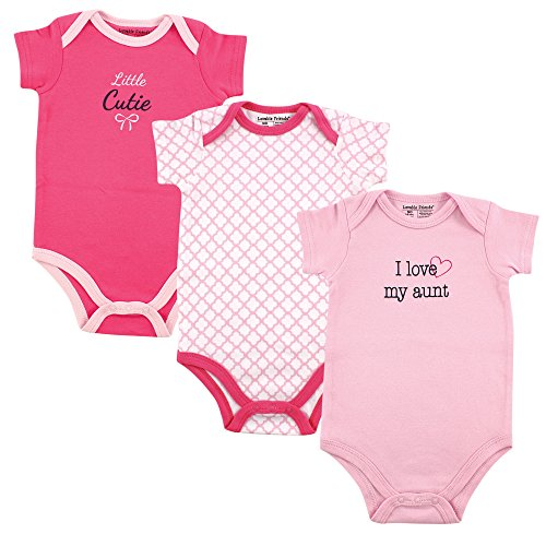 (Luvable Friends Baby Sayings Bodysuit 3pk, Girl Aunt, 0-3 Months)