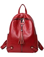 Heshe Women Leather Backpack Casual Daypack School Bag for Ladies and Girls