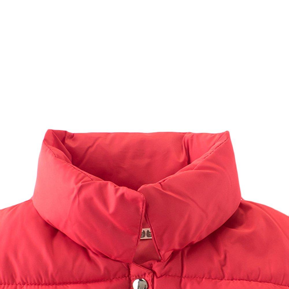 KISBINI Big Boys Stand Collar Warm Vests Autumn and Winter Coats Black 9T by KISBINI (Image #2)