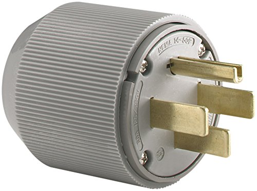 Eaton 5745N 50 Amp 125/250V 14-50 Industrial Power Plug, Gray