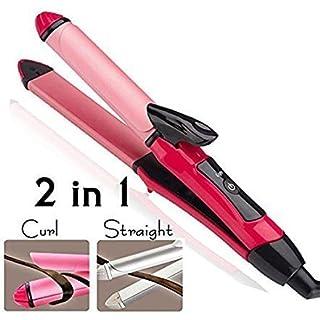 MAXELNOVA 2 in 1 Hair Straightener and Curler with Ceramic Plate  Straightener + Curler  new design