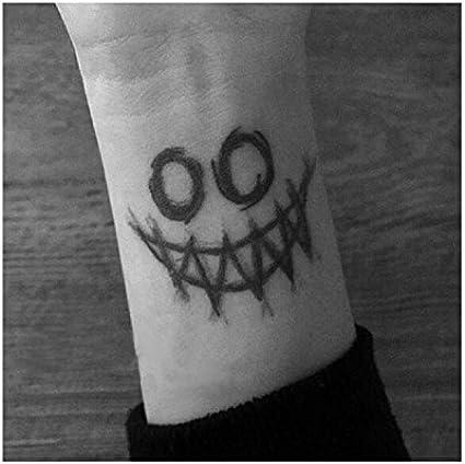 lijinjin Joker Face Big Etiqueta Engomada del Tatuaje Temporal ...