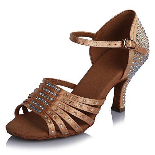 Zapatillas Baile de Latinos Danza ESAFCT454 amp;Niña Salón YKXLM Beige Calzado Modelo Performance de Salsa Mujeres Baile de de Zapatos Cq08Y