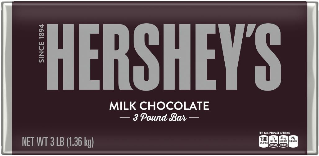HERSHEY'S Chocolate Bar, Milk Chocolate Candy Bar, 48 Ounce